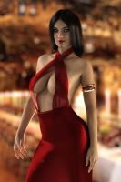 Gina in red and gold by FranPHolland