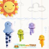 Jellyfish Amigurumi Family at Sea by FROG-and-TOAD