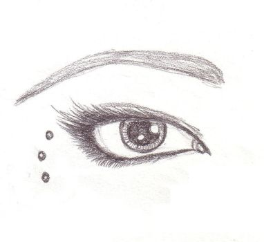 Dotted Eye Sketch by MarissaWalker