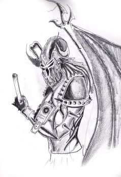 because all demons need guns by Sidesane