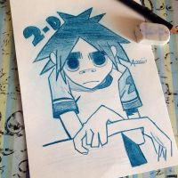 2-D from Gorillaz by Chemicalgirl7