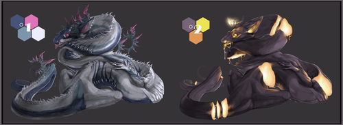 CLOSED PAYPAL ADOPTABLES - Snake dragons set 1 by SorahChan