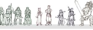 20 RPG Characters- Part I by BeholderKin