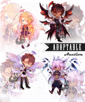 [ CLOSE ] Adoptable Angels and Demons by HalfChe