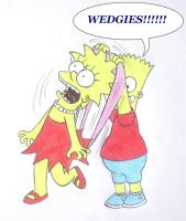 Lisa's Wedgies by Shagggy1987