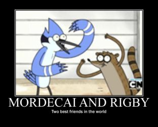 Mordecai and Rigby by becaveach21