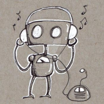 Robots: Jamming Out by KekeIllustrations