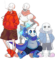 Papyrus and Sans -Swap- by FreakSnail
