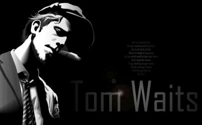 Tom waits Wallpaper by miguel-deviant