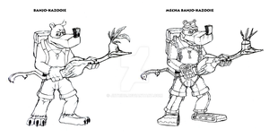 BK3 - Banjo and Mecha Banjo by JRTribe