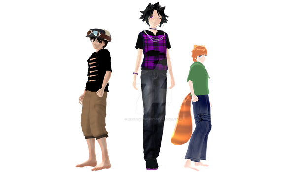 MMD Profiles: Rig, Austin and Reed by MaylunaBrokeit