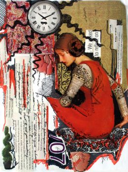 Time - Collage Series by Irlana