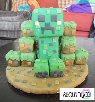 Creeper cake by sequinjar