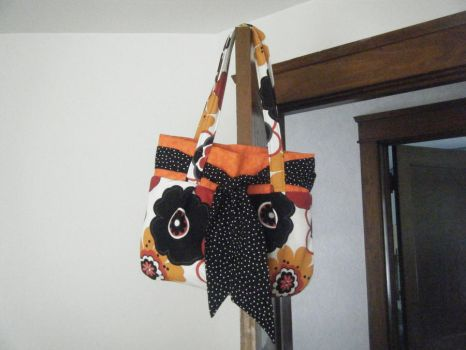 Orange, Red, Black,  Purse by Meadow-of-Mysteries