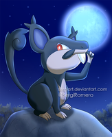 Pokemon Sun and Moon - Alolan Rattata by SergiART