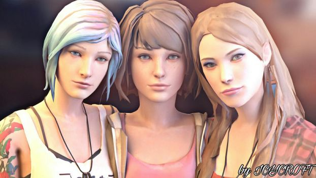 Life is Strange - Chloe Max and Rachel by ICYCROFT