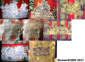 Christmas 2017 Gift Tag Collage 2 by Bowser81889