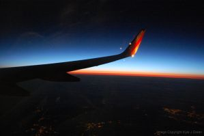 Plane Sunset by Focus-Fire