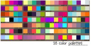 28 Color Palettes by sailorssweetheart