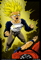 trunks become a super saiyajin by ChibiDamZ