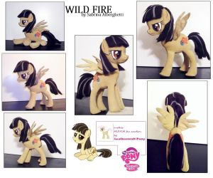 Wild Fire leathercraft pony figure by anthropochick