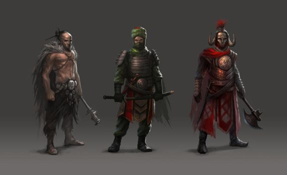 Some characters by alex-ichim