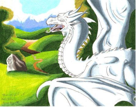 old dragon drawing by BLACK-METAL-WOLVEN
