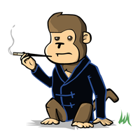 Suave Monkey by JaffaCakeLover