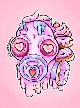 Cupcakes and Donuts Gasmask by falt-photo