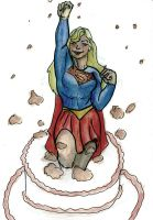 Supergirl watercolour pencils by Puddingbat