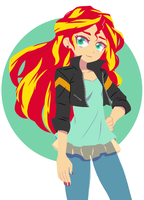 Sunset Shimmer by hirosi41