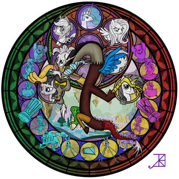 Commission: Discord Stained Glass by Akili-Amethyst