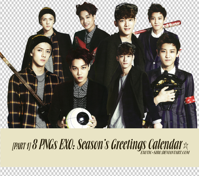 [PNGset12] EXO's 2014 official calendar - PART1 by exotic-siro