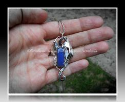 'Midnight dreams' silver pendant SOLD by seralune