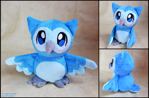 Plush Powls - Bluebell Breeze by SewYouPlushieThings