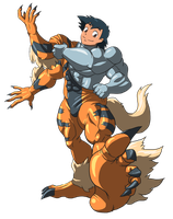 Machamp and Arcanine suit 02