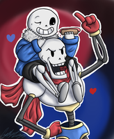 .:Undertale - Brothers:. by SomaShiokaze
