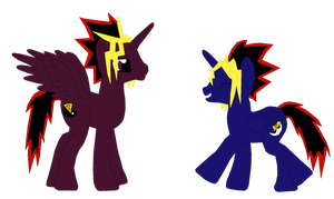 Yami Yugi And Yugi in MLP Style by fuzzylittlekitty