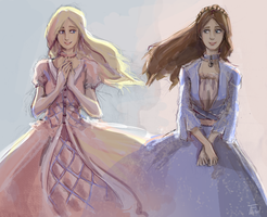 Barbie as the Princess and the Pauper by Leloucha