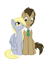 the Best Couple in all of Ponyville! by MoostarGazer