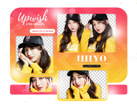 JIHYO PACK PNG #1/TWICE by Upwishcolorssx