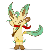 Leafeon mystery dungeon by Alphaws