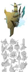 World Building / Days 36-38 : Airships / Wingsuits by BrotherBaston