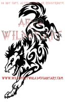 Teki Tribal Wolf Tattoo by WildSpiritWolf