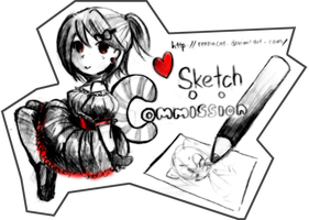 ReenaCat's OC Sketch Commission Banner -OPEN- by ReenaCat