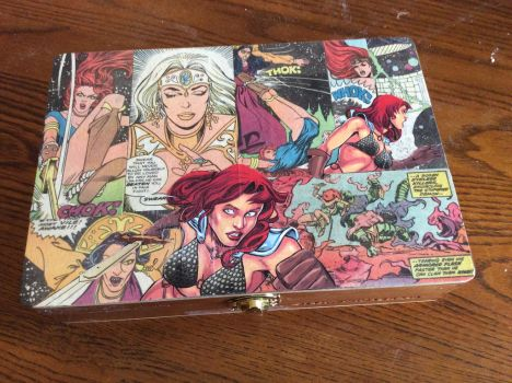Red Sonja Keepsake Box by UnderdogGirl