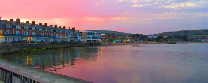 Swanage Bay At Sunset by Cotterill23