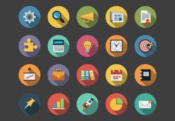 Business Flat Icons bundle by Alexgorilla