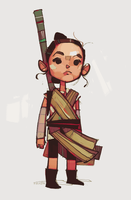 Rey-a-Day 27 - Lil' Rey by michaelfirman