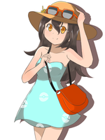 Pokemon Sun and Moon - Female Sightseer by chocomiru02